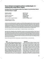 prikaz prve stranice dokumenta Ponovno datiranje tri staroegipatska predmeta iz razdoblja Naqade I.–III. i arhajskog perioda u Muzeju Mimara u Zagrebu
