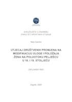 prikaz prve stranice dokumenta Utjecaj društvenih promjena na modifikaciju uloge i položaja žena na poluotoku Pelješcu u 18. i 19. stoljeću