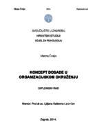 prikaz prve stranice dokumenta Koncept dosade u organizacijskom  okruženju